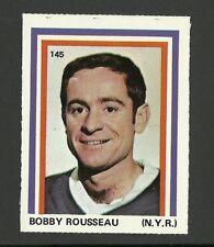 Bobby Rousseau New York Rangers #145 1972-73 Eddie Sargent Hockey Sticker Stamp