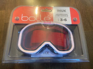 Bolle Bollé Snowboard Ski Goggles Pink.  Free Shipping.  Ages 3-6