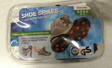 Shoe Spikes For Ice and Snow  Size 3.5-6.5 18 spikes with 2 spare