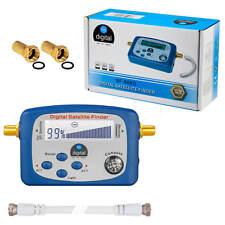 Digital HDTV Sat Finder SATFINDER LCD Display Kompass 3D F-Kabel Gold F-Stecker