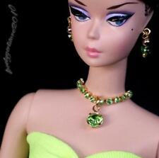 Handmade Barbie doll jewelry necklace earrings for Barbie doll 848A