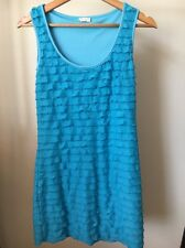 Be Girl Blue Lined Frilled Size 10 Sleeveless Polyester dress <T11694