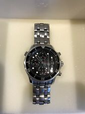 Omega Seamaster Chronograph Black Face Divers Watch.