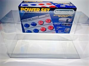 1 Console Box Protector For NES POWER SET Clear Custom Nintendo Display Boxes