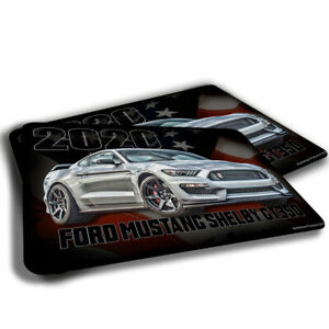 TWO RUGS 2020 Ford Mustang Shelby GT350 Silver American Flag Design