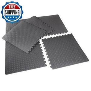 Interlocking Puzzle EVA Foam Tile Floor Mat Home Gym Fitness Exercise 6-Piece