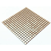 3D Mosaic Aluminum Metal Wall Panel Wall Sticker Self-adhesive Thick Tile Decal