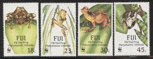 Fiji 1988 Tree Frogs WWF set Sc# 591-94 NH