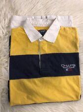 Vintage CHAPS Ralph Lauren Mens Size L Striped Polo Shirt