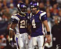 BRETT FAVRE-ADRIAN PETERSON MINNESOTA VIKINGS  8X10 SPORTS PHOTO (XL)