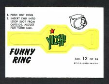 1966 Topps Funny Ring #12 Yicch! NM (02)