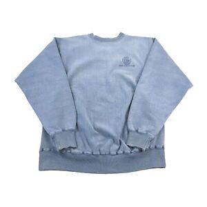 Vintage Kiewit Construction Sweatshirt Crewneck Distressed Blue Size Large USA