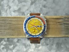 Vintage Seiko 6139-6000 Automatic Chronograph, Notched Case, Proof Dial, 1970