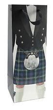 Scottish Wine Gift Bottle Bag Prince Charlie Jacket Tartan Kilt Design
