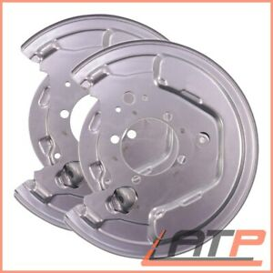 2X COVER PLATE FOR BRAKE DISC REAR RIGHT LEFT TOYOTA AVENSIS T25 1.6-2.4 06-08