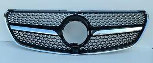 Kühlergrill Tuning AMG Optik Schwarz für Mercedes Benz V Klasse W447