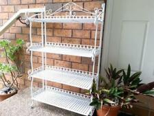 Handmade Country Style 4 Tier Shelf Rack Plant Pot Stand Storage WHITE001