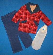 Vintage Ken & Brad Doll Best Buy #7763 Red Blue Plaid Jacket Dickie Pants 1974