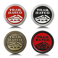 Trail Rated 3D Badge Emblem Decal Sticker Nameplate Metal Chrome For Jeep OEM
