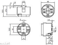 9405/D1 PORTALAMPADE PER LAMPADE FLUORESCENTI G24 ATTACCO G24D1 GX24D1