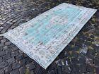Area rug, Turkish rug, Vintage rug, Handmade rug, Wool rug Carpet   3,8 x 7,3 ft