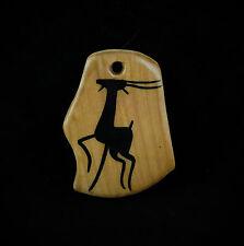 Pendentif Céramique GRANDJEAN-JOURDAN VALLAURIS Faux bois Décor d'antilope TBE