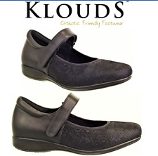 Klouds shoes - Orthotic friendly comfort leather extra wide flats - Wisdom XW