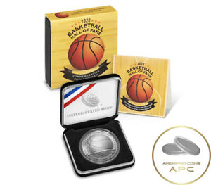 2020 P Basketball Hall of Fame Uncirculated Silver Dollar w/Box and COA