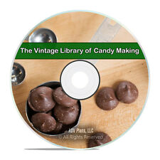 Classic Candy Making, 71 Books, How to Recipes, Candies, Confectionary CD H62