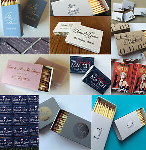 Personalised Match Box Wedding Favours - Includes Any Custom Design