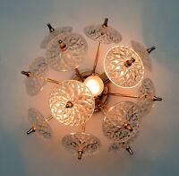 VAL SAINT LAMBERT SPUTNIK crystal discs sconce wall lamp vintage 1960 no1