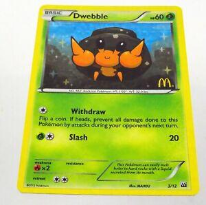 Pokemon TCG Dwebble McDonalds Promos 3/12 Holo Promo Card 2012 PLAYED COND