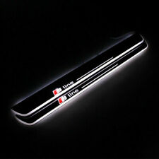 2pcs Moving LED Light Door Sill Scuff Plate Trim Panel For AUDI A3/S3 2014-2015