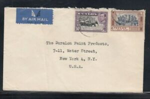 CEYLON Commercial Cover Colombo to New York City 10-3-1952 Cancel