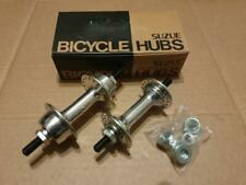 NOS BMX SUZUE SMALL FLANGE HUBS 36 HOLE SILVER / CHROME OLD SCHOOL