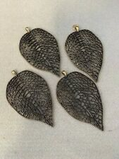 Leaf pendants x 4, perfect for jewellery making