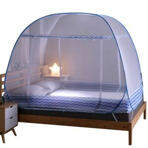 Portable Automatic Pop Up Bed Mosquito Net foldable Breathable Summer camp tent