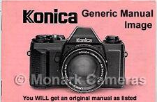 Konica C35 cámara manual de instrucciones, más Libros En Venta