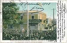 VINTAGE POSTCARD - PERU: LIMA - MANIFESTACION en HONOR de COLOMBIA 1901 !!