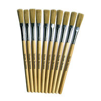 Papier Paper Mache Paste brushes Art and Craft Hog Hair Short Handle brushes