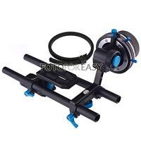 FOTGA DP500II DSLR Follow Focus w/ A/B Hard Stops + 15mm Rail Rod Baseplate Rig
