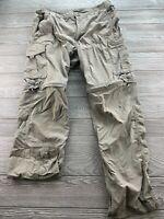Men's Columbia Pants Tan Size 34 X 32 Hiking Active convertible