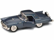 1957 Ford Thunderbird Dark BLUE w TOP 1:18 Road Legends YatMing 92358
