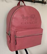 NWT COACH Pebbled Leather Jes Backpack Shoulder Bag F76729 RP $378 Rouge