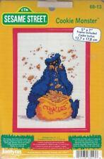 Sesame Street COOKIE MONSTER Cross Stitch Kit Janlynn 68-13 Includes 5x7 Frame
