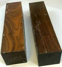 2 Lignum Vitae Argentine Verawood 3x3x12 Pool Cues Thor's Hammers Mallet Lumber