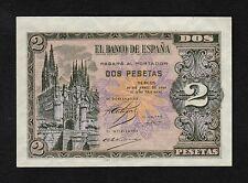 F.C. 2 PESETAS ABRIL 1938 , SERIE H , S/C .