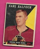 1958-59 TOPPS # 37 HAWKS EARL BALFOUR  CREASED  CARD (INV# C3114)
