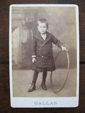 Photographie ancienne petit garçon identifié Félix Langevin Novembre 1884 Gallas