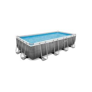 Bestway 56996 Power Steel Frame Pool 488x244x122cm rechteckig Gartenpool Pumpe